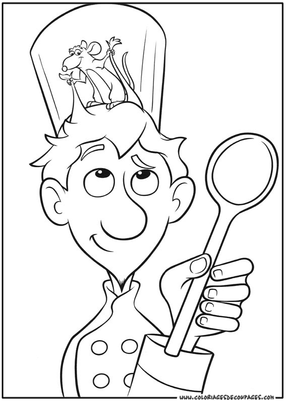 567x794 Chef Hat Coloring Page