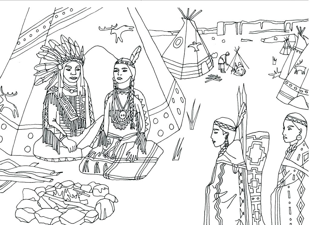 1024x744 Cherokee Indian Coloring Pages Coloring Pages Coloring Sheets