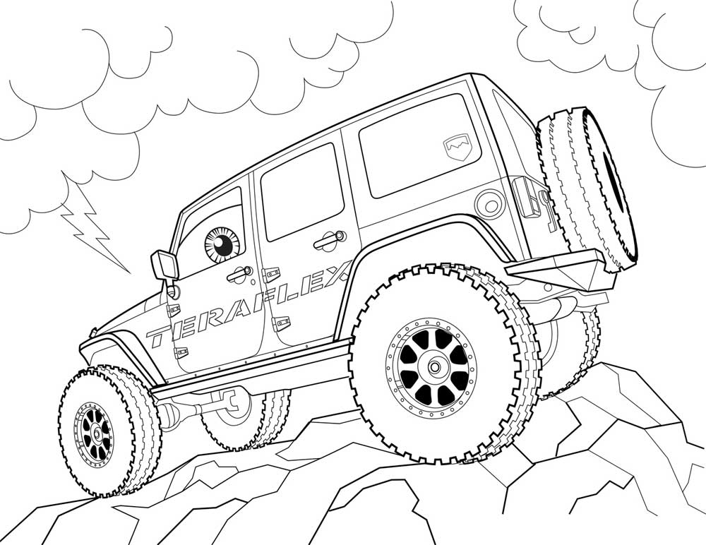 1000x772 Jeep Coloring Pages Printable Free Coloring Pages