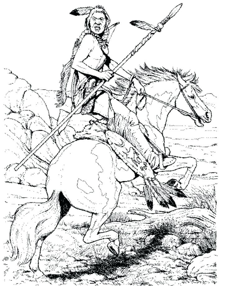 736x919 Cherokee Indian Coloring Pages Native Horse Coloring Page Boys