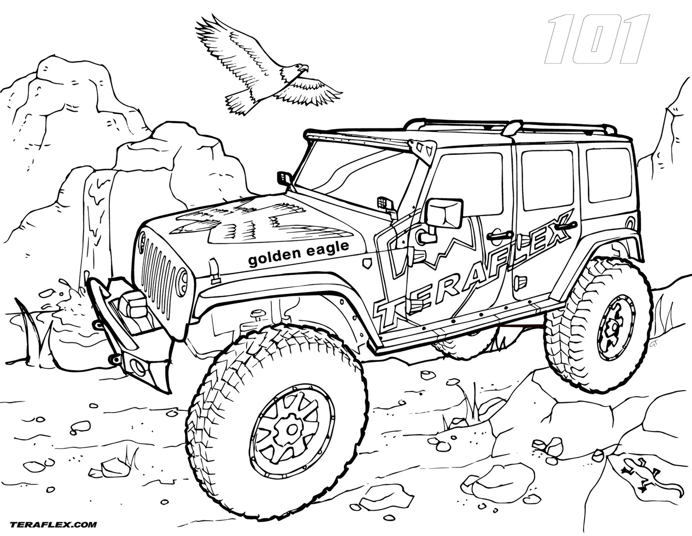 1392x1080 Jeep Coloring Pages