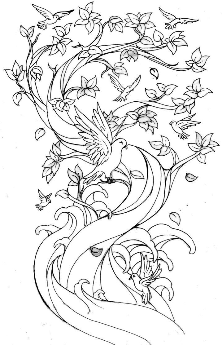 717x1113 Cherry Blossom Coloring Pages Tree Snapshot Delux Totercomposter