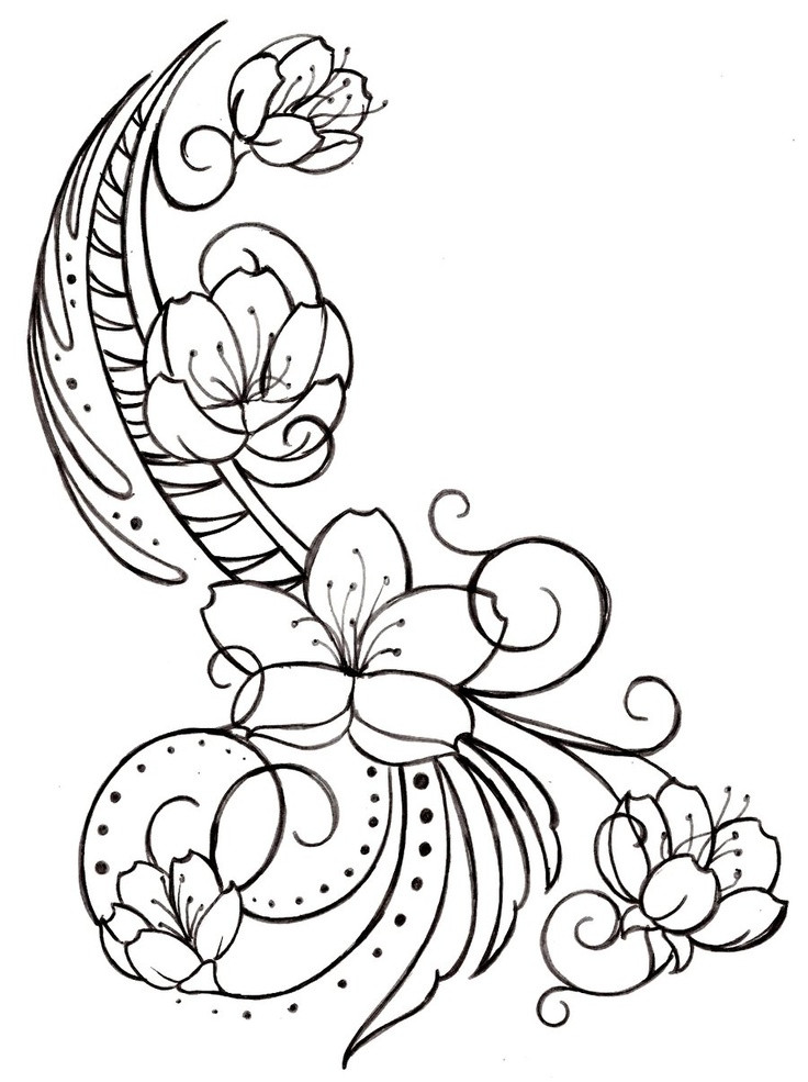 736x985 Cherry Blossom Coloring Pages Unique Pergamano Page