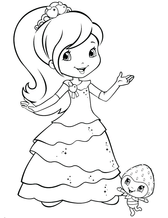 700x906 Cherry Jam Coloring Pages Strawberry Shortcake Coloring Page