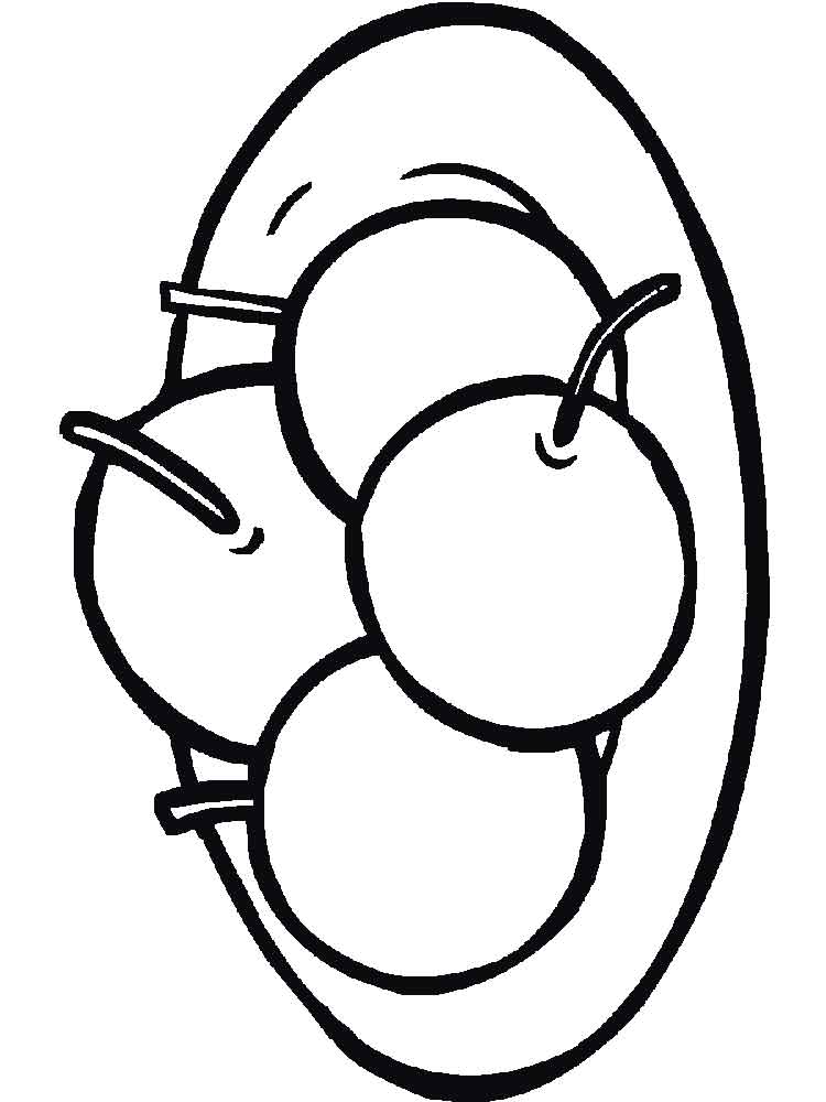 750x1000 Cherry Coloring Pages Download And Print Cherry Coloring Pages