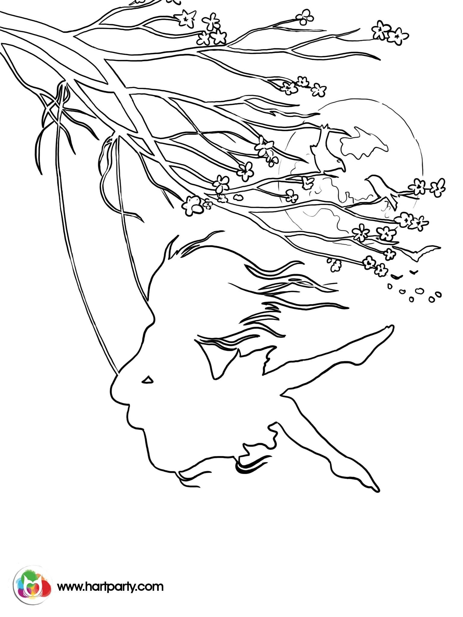 1536x2048 Hopes Swing Traceable Coloring Page Of A Girl On Swing From Cherry