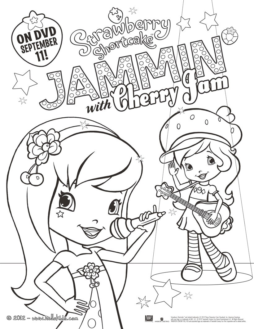 820x1060 Jammin With Cherry Jam Strawberry Shortcake Coloring Pages