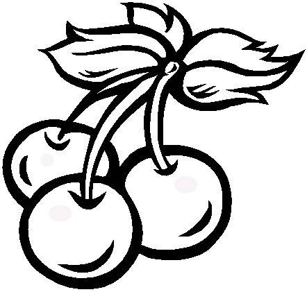 442x421 Cherry Coloring Pages Coloringpagehub