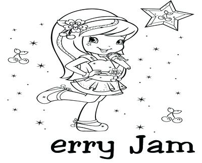 400x322 Cherry Jam Coloring Pages Coloring Trend Thumbnail Size Watermelon