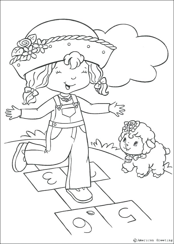 607x850 Cherry Jam Coloring Pages Strawberry Shortcake Coloring Pages