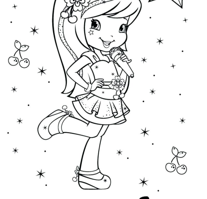 800x768 Cherry Jam Coloring Pages Strawberry Shortcake Coloring Pages Free