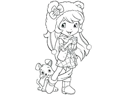 450x334 Cherry Jam Coloring Pages Strawberry Shortcake Coloring Sheet