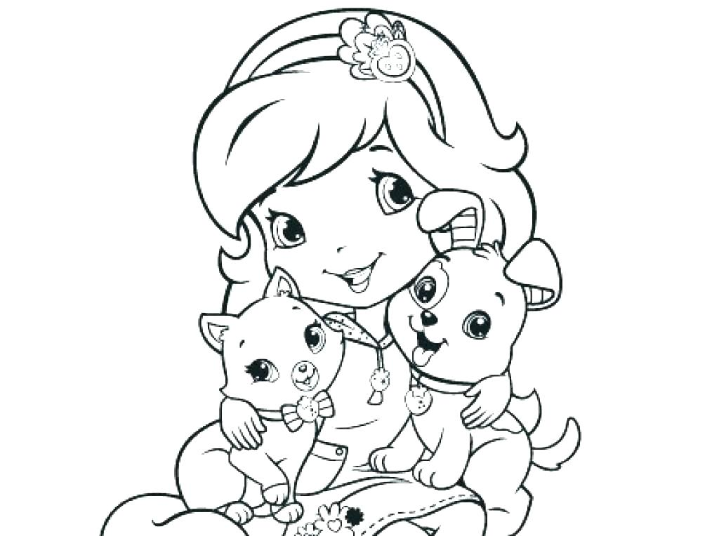 1024x764 Coloring Pages Of Strawberry Shortcake And Friends Strawberry