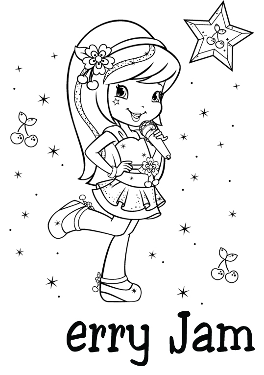 539x765 Strawberry Coloring Pages Strawberry Shortcake Cherry Jam Coloring