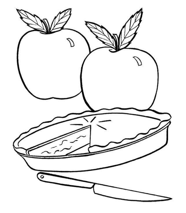 643x736 Pictures Fresh Apple Pie Coloring For Kids Pie