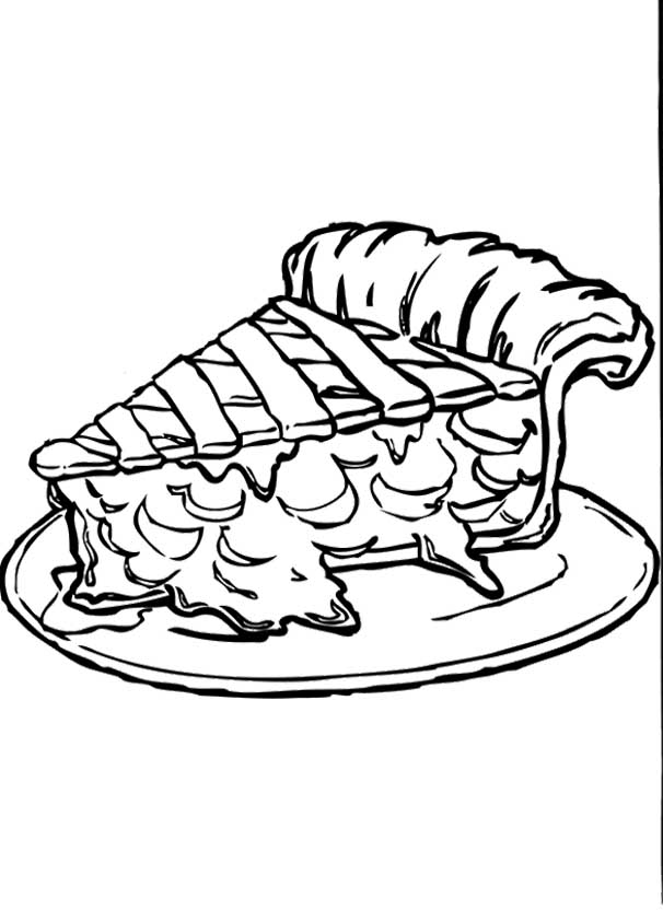 606x843 Apple Pie Coloring Page