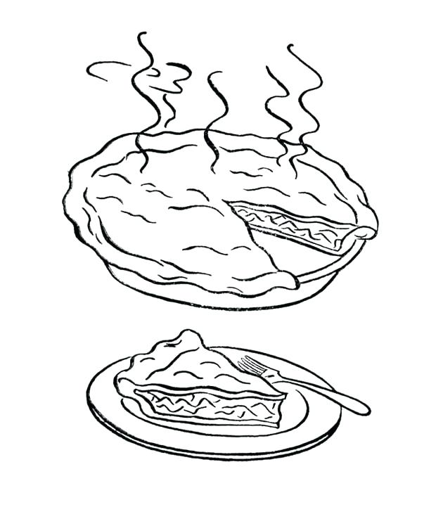 630x721 Pie Coloring Page Hot Pie Coloring Page For Kids Blueberry Pie