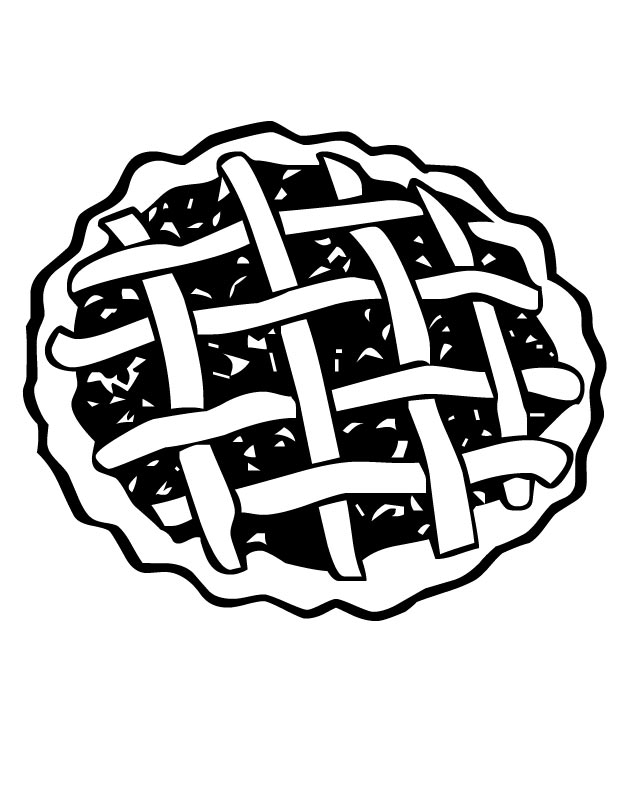 630x810 Cherry Pie Coloring Pages