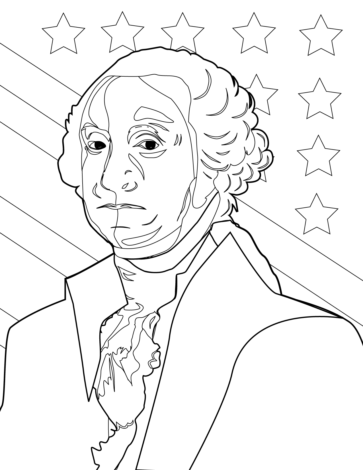 1275x1650 George Washington Coloring Pages