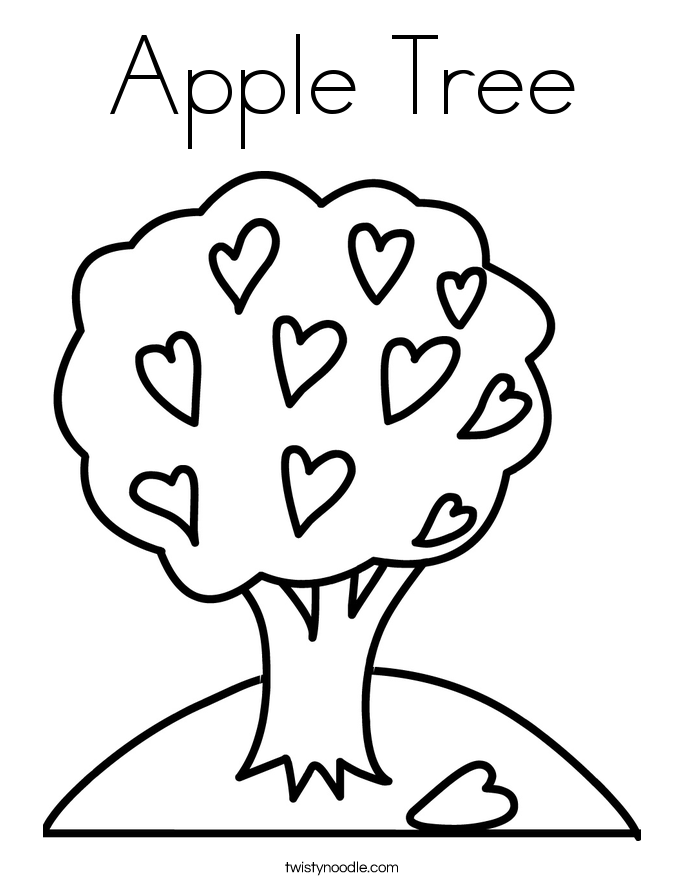 685x886 Apple Tree Coloring Page