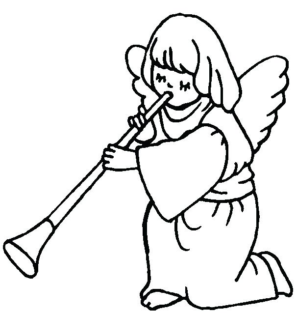606x637 Angel Coloring Pages Online Kids Coloring Guardian Angel Coloring