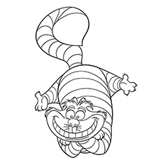 Cheshire Cat Coloring Pages At Getdrawings Com Free For Personal