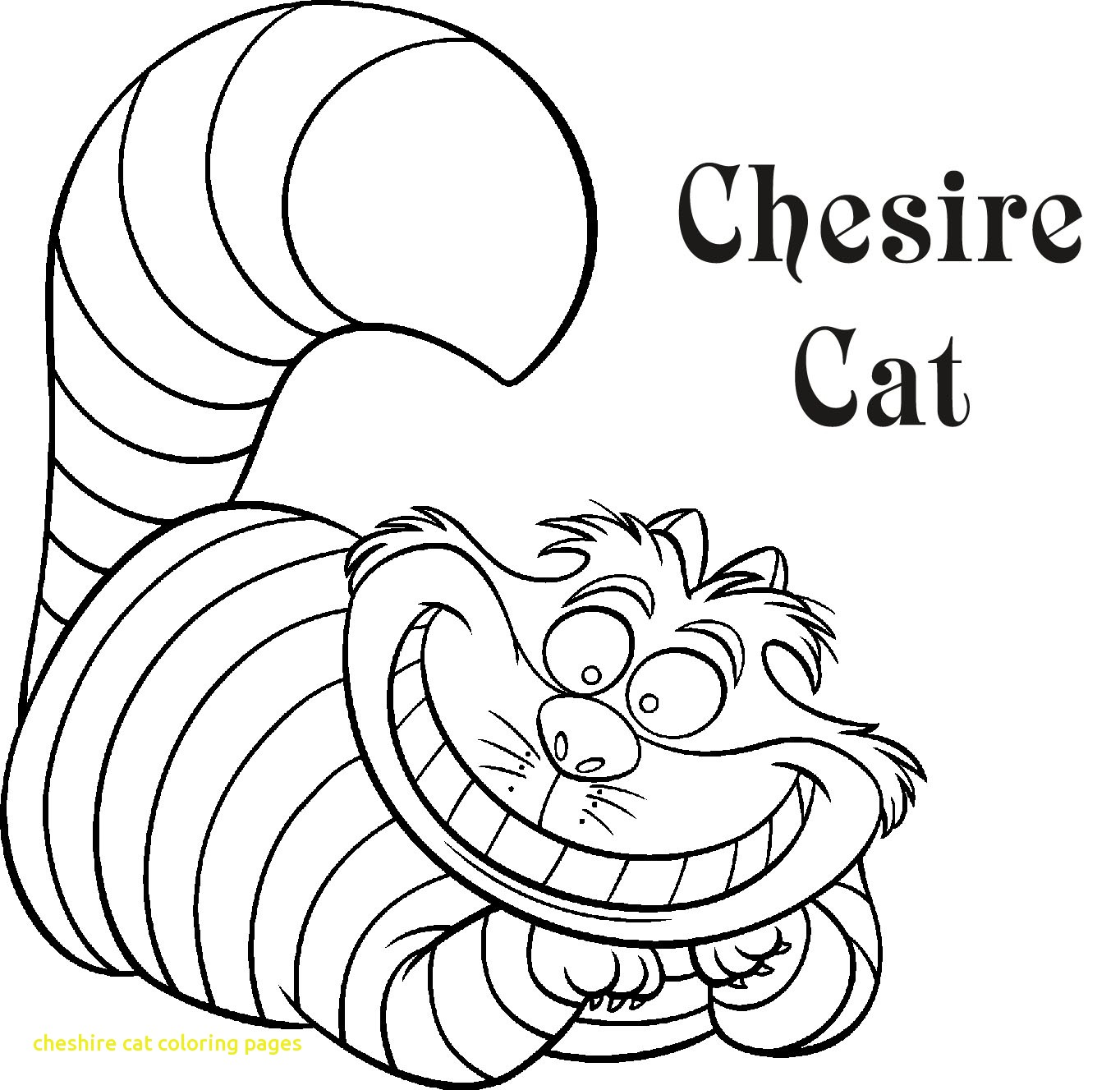 Cheshire Cat Coloring Pages at GetDrawings.com | Free for ...