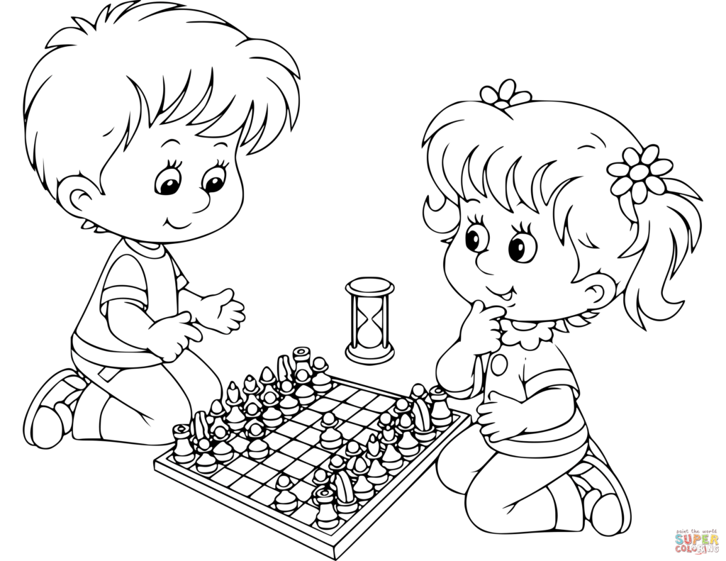 Chess Pieces Coloring Pages