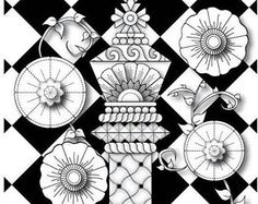 236x187 Chess Piece Mandala Advanced Coloring Page For Adults, Printable