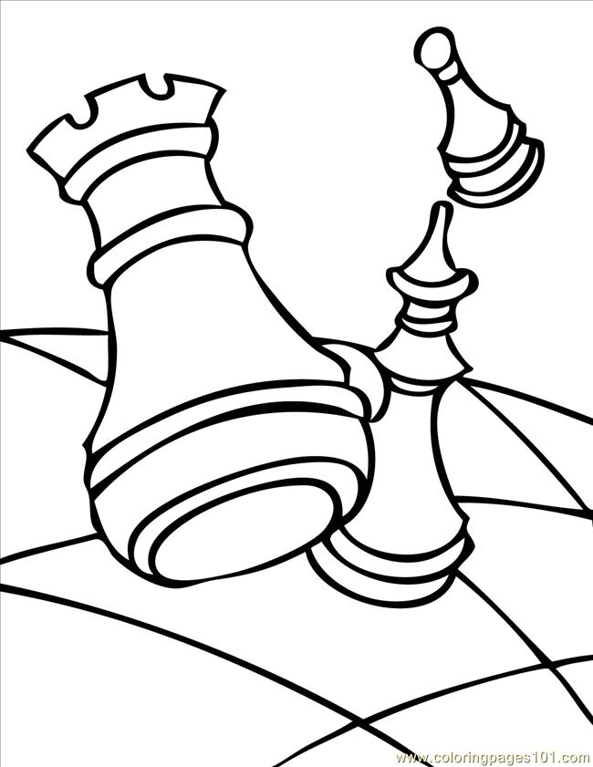 650x841 Chess Ink Coloring Page