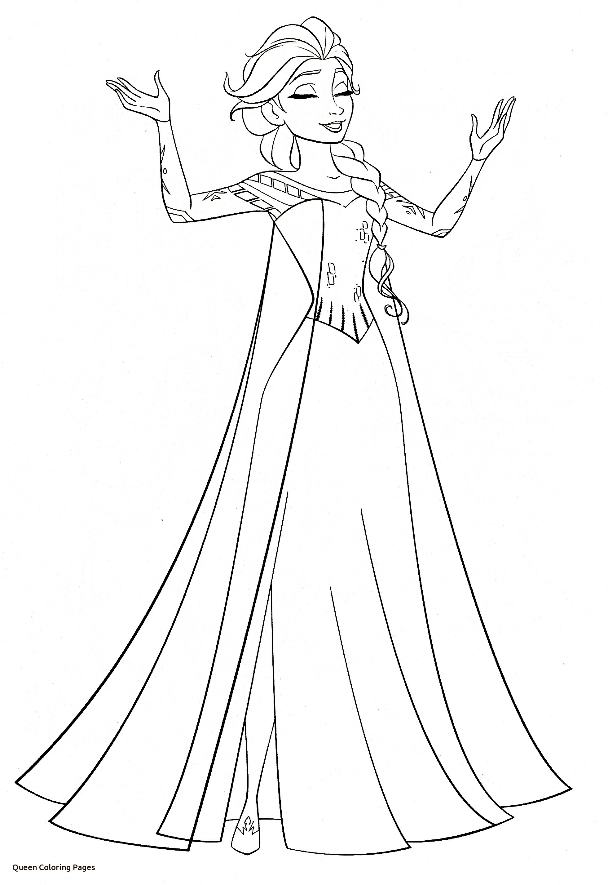 1962x2854 Coloring Pages Queen Elegant Queen Chess Piece Coloring Page