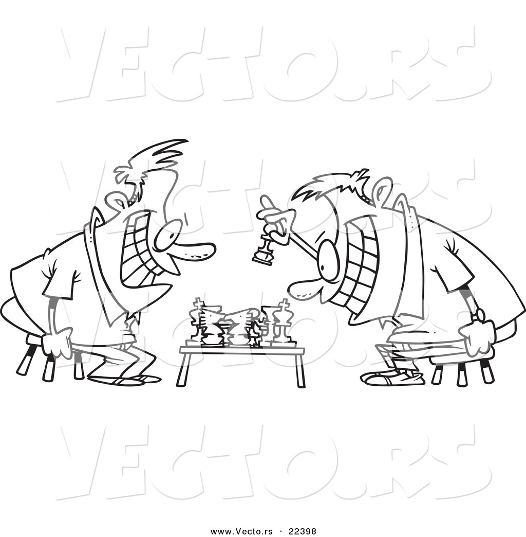 1024x1044 Vector Of A Cartoon Guys Playing Chess