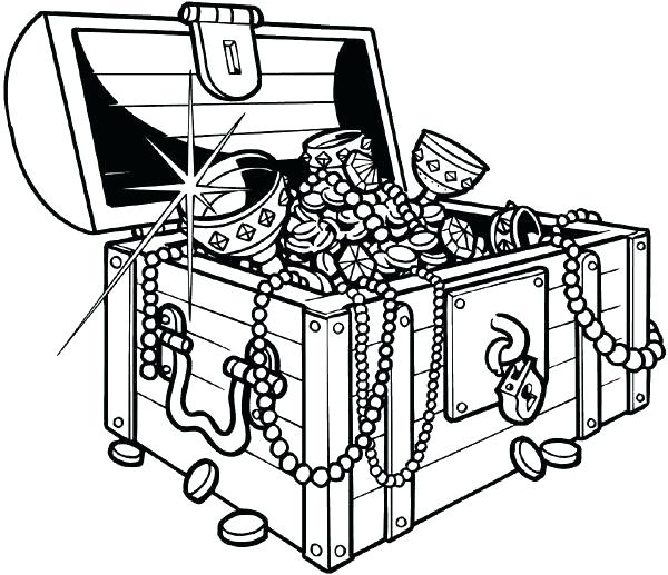 600x517 Treasure Chest Coloring Pages Printable Treasure Chest Sunken