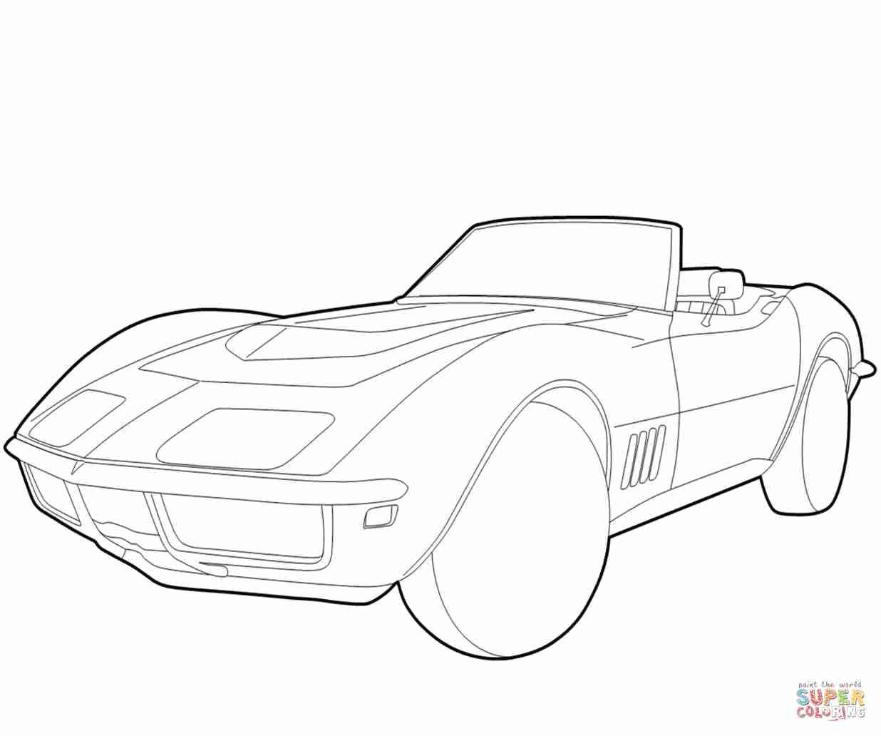 1236x1032 Chevrolet Corvette Coloring Page Free Printable Pages Fair Olegratiy