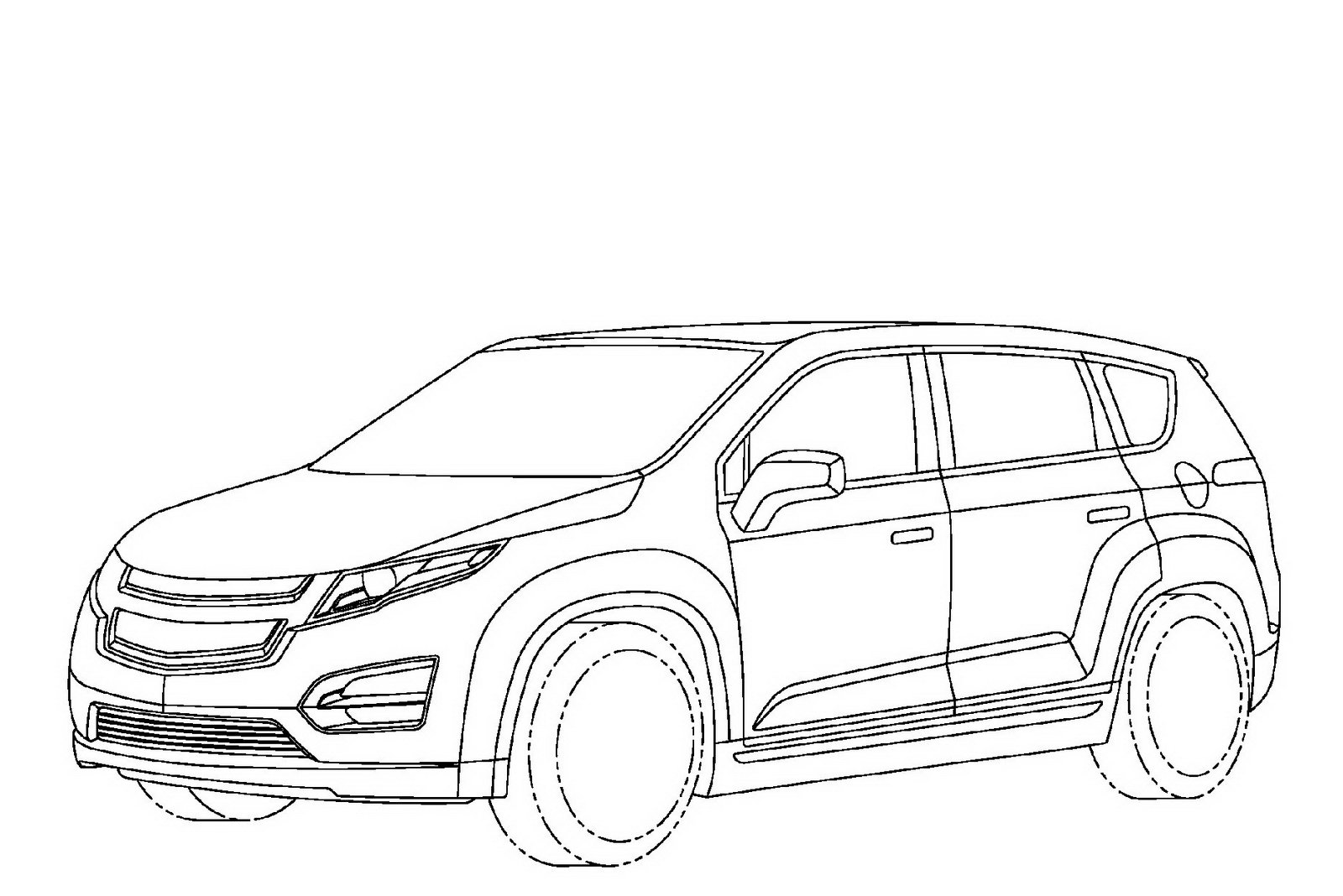 1600x1068 Chevy Mini Van Coloring Page