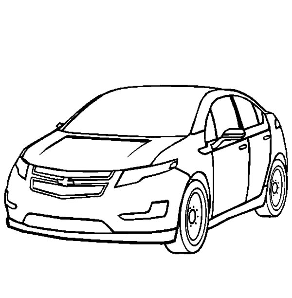 600x612 Chevy Volt Cars Coloring Pages Best Place To Color