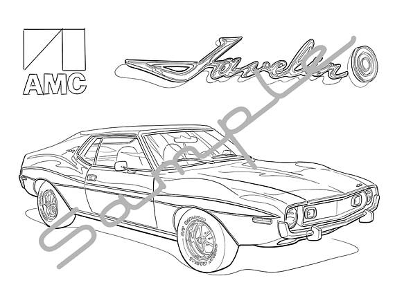 570x441 Amc Javelin Amx Adult Coloring Page Printable Coloring