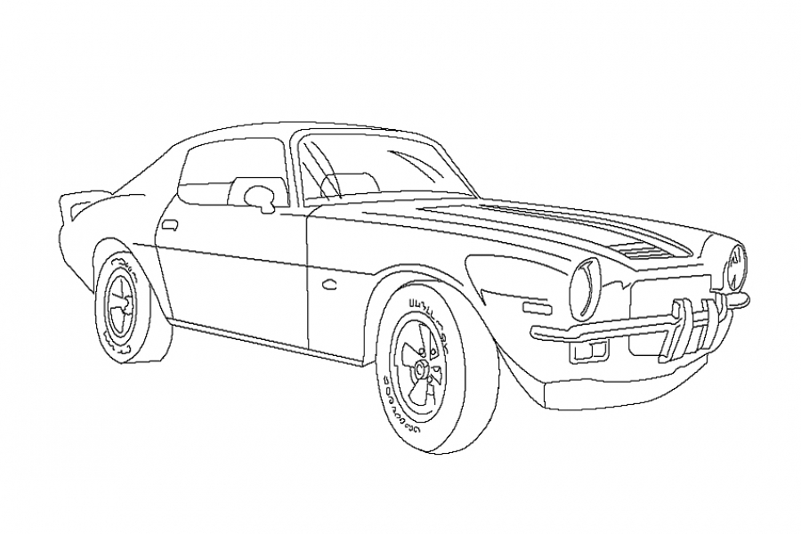900x600 Classic Chevrolet Car Camaro American Muscle Coloring Sheet
