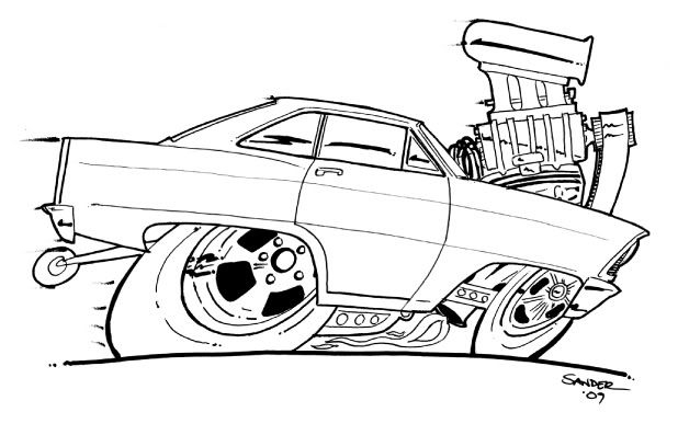 618x397 Hot Rod Coloring Pages Printable Coloring Pages