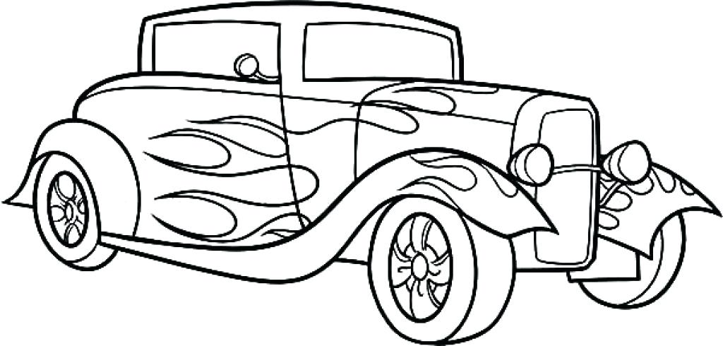 1024x490 Hotrod Colouring Pages Page Hot Rod Coloring Pages Drawing