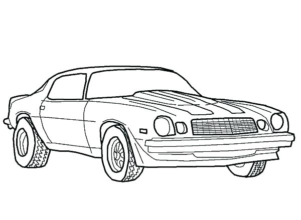 600x439 Camaro Coloring Page Coloring Pages Coloring Pages Hot Rod Muscle
