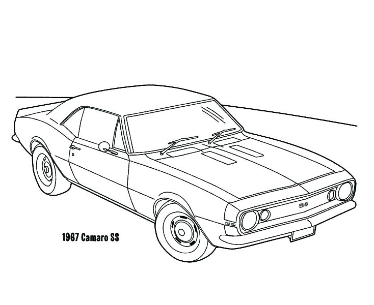 734x600 Camaro Coloring Pages Coloring Pages Popular Coloring Pages
