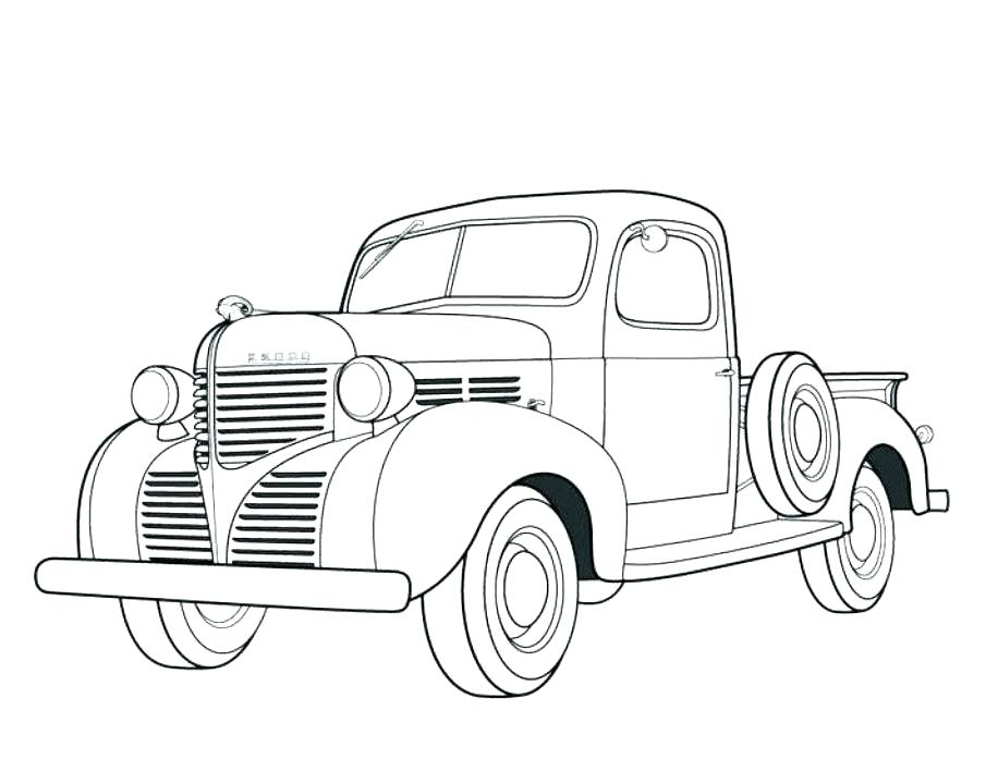 Chevy Pickup Coloring Pages