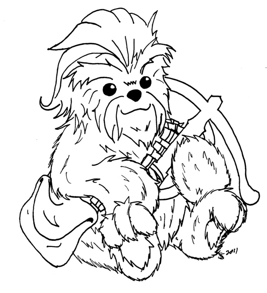 Chewbacca Coloring Pages At Getdrawings Free Download