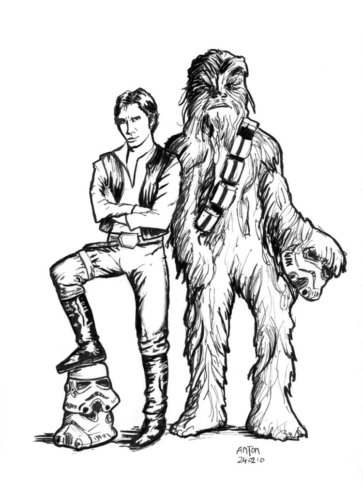 The Best Free Chewbacca Coloring Page Images Download From 50 Free