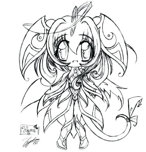 480x500 Cute Chibi Animal Coloring Pages Complicated Colouring Anime