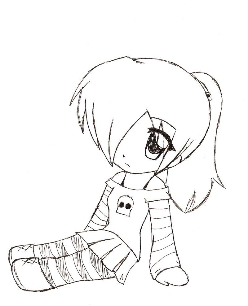 800x988 Cute Chibi Girl Easy Drawings Anime Chibi Girl