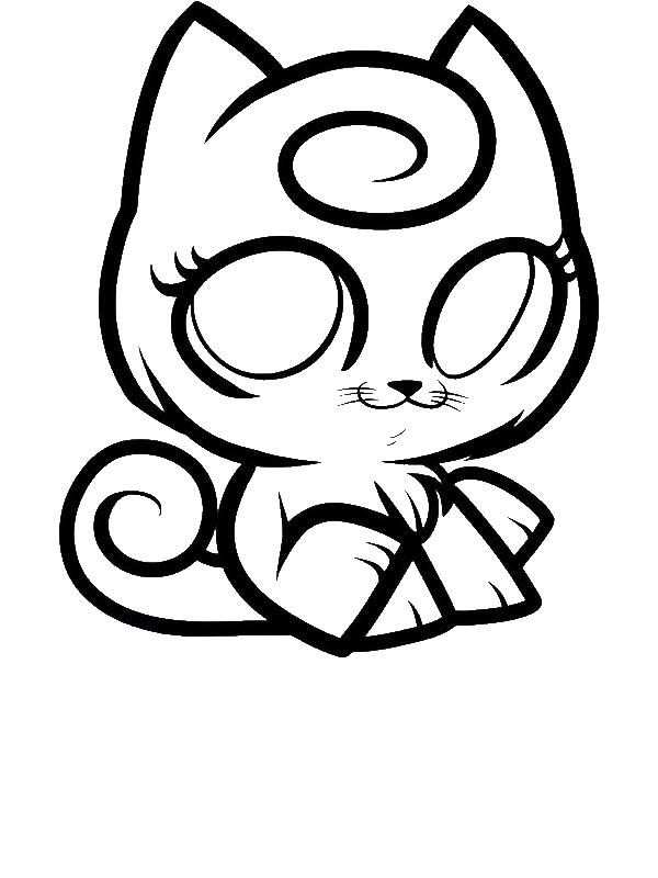 600x800 Jigglypuff Kitty Pokemon Coloring Page