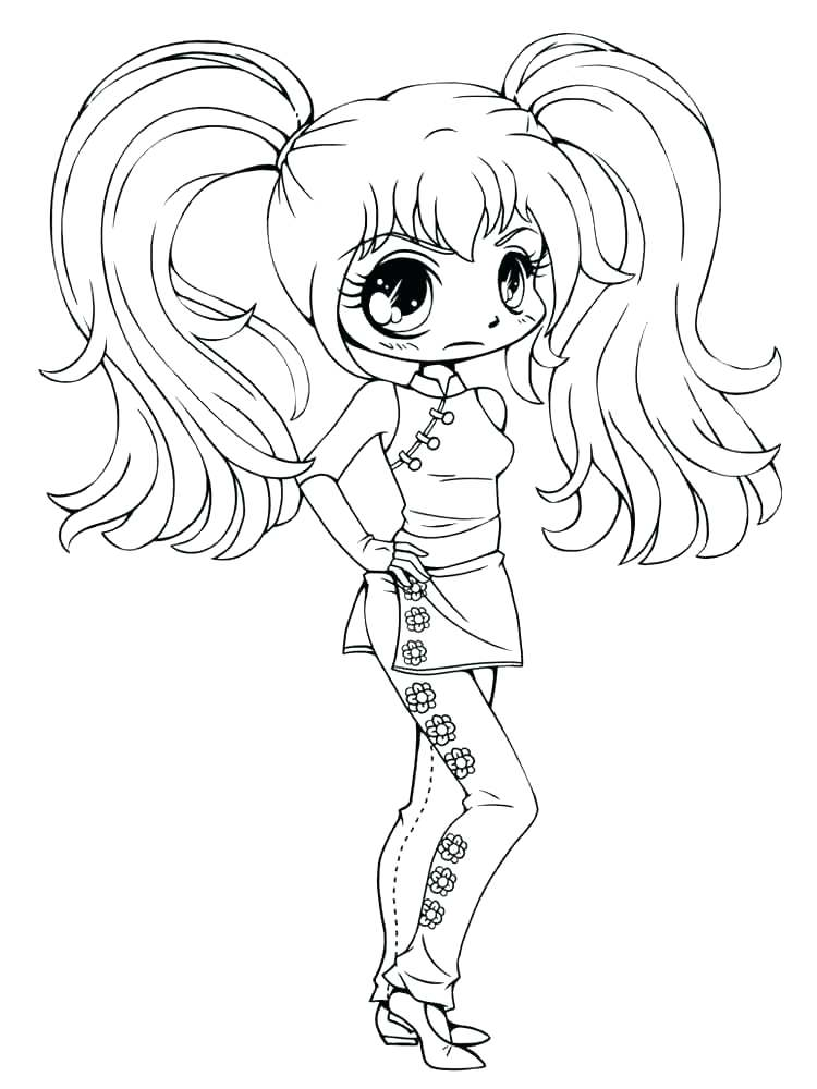 750x1000 Chibi Anime Coloring Pages Cute Coloring Pages Of Girls Photograph