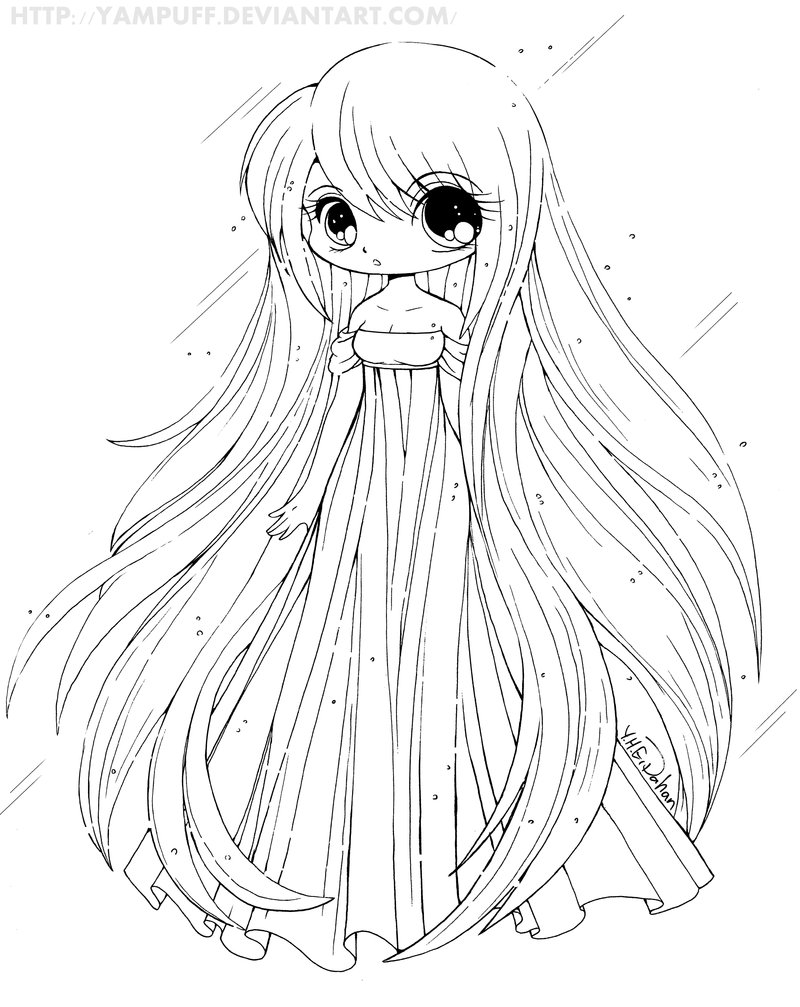 800x1007 Chibi Anime Coloring Pages With Cute